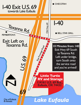 Map To Little Turtle